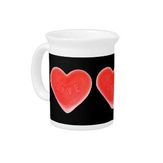 Sweet Heart Black pitcher