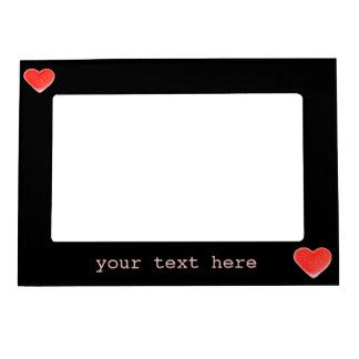 Sweet Heart Black 'text' magnetic frame
