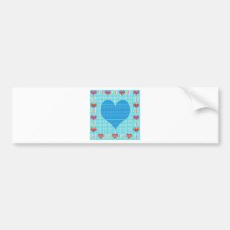 Sweet Heart Blue Bumper Stickers