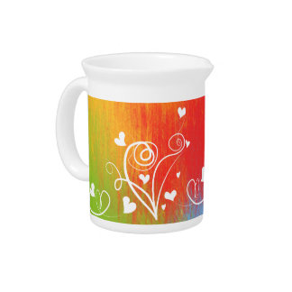 Sweet heart colorful Pitcher