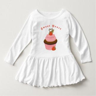 Sweet Heart Cupcake Dress for Girls
