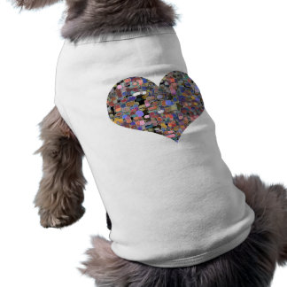 Sweet Heart Floral Marbles Sleeveless Dog Shirt