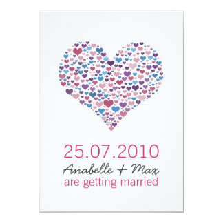 Sweet-Heart Informal Reception Card