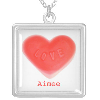 Sweet Heart 'Name' necklace square