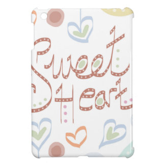 Sweet Heart. Pastel colourful text and print. iPad Mini Cover