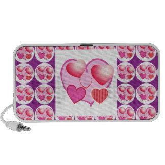 Sweet Heart Patterns Pink Theme Mini Speaker
