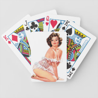 Sweet Heart Pin Up Bicycle Playing Cards