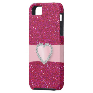 Sweet Heart Pink Bling  -  iPhone5 Case