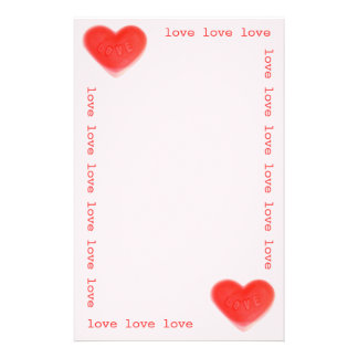Sweet Heart Pink  'love' stationery