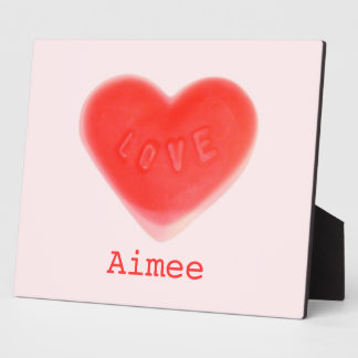 Sweet Heart Pink 'Name' photo plaque