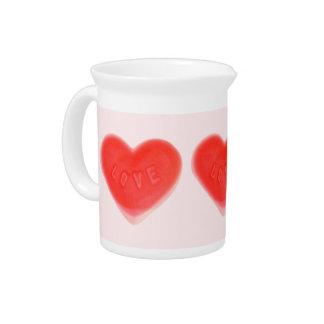 Sweet Heart Pink pitcher
