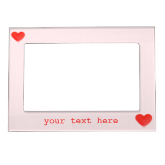 Sweet Heart Pink 'text' magnetic frame