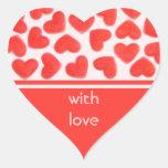 Sweet Heart Pink 'with love' sticker heart