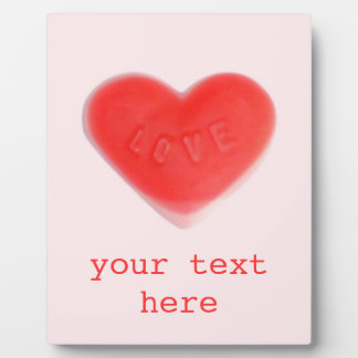 Sweet Heart Pink 'Your Text' photo plaque