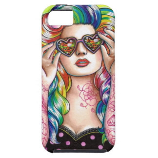 Sweet Heart Tattoed Pin Up Girl Case For The iPhone 5