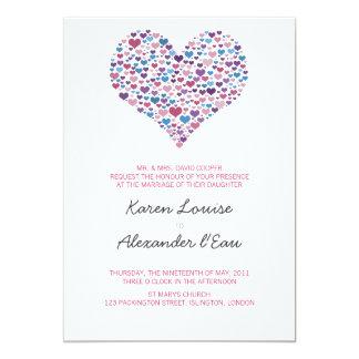 Sweet-Heart Wedding 13 Cm X 18 Cm Invitation Card