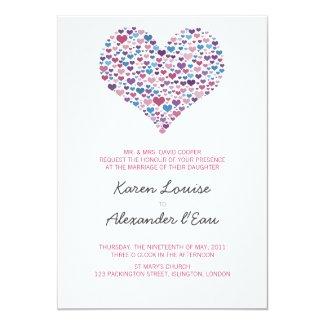 "Sweet-Heart Wedding 5"" X 7"" Invitation Card"