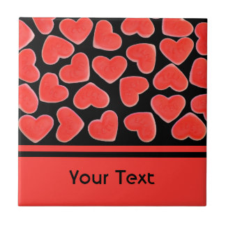 Sweet Hearts Black 'text' tile
