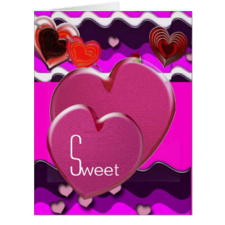 Sweet Hearts Large Greeting Card