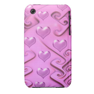 Sweet Hearts, girly decorative Case-Mate iPhone 3 Cases