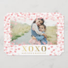 Sweet hearts in White   Valentine's Day Photo Card