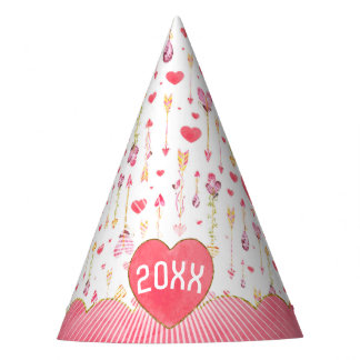 Sweet Hearts 'n' Arrows Valentine's Day Year Party Hat