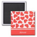 Sweet Hearts Pink 'Name' fridge magnet