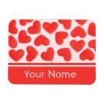 Sweet Hearts Pink 'name' premium magnet