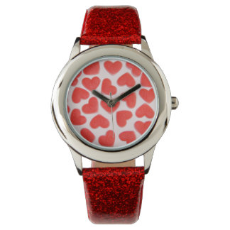 Sweet Hearts Pink print watch