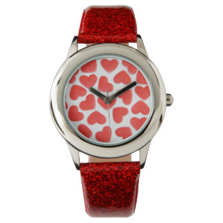 Sweet Hearts print watch