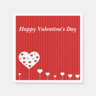 Sweet Hearts - Valentine's Day Paper Napkin