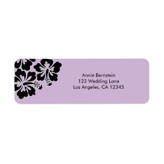 Sweet Hibiscus Wedding Return Address Label