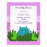 Sweet  Hippo Baby Shower Invitation