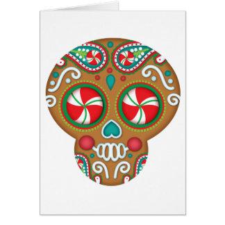 Sweet Holiday Sugar Skull Christmas Card
