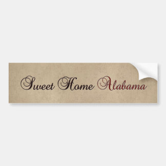 Sweet Home Alabama Bumper Sticker