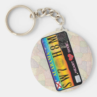 Sweet Home Alabama Keychain (Map Series)