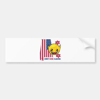 Sweet Home Alabama Smiley Bumper Sticker