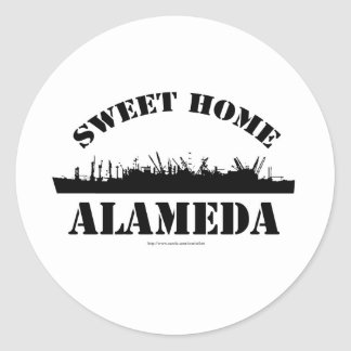 Sweet Home Alameda! Round Sticker