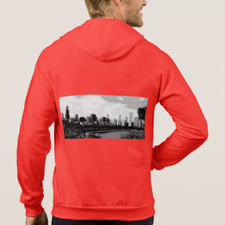Sweet Home Chicago Men's Zip Up Hooded Pullovers