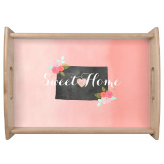Sweet Home Colorado State & Moveable Heart Serving Tray