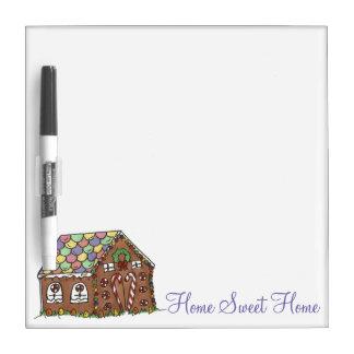 Sweet Home Housewarming Gift Gingerbread House Dry Erase Board