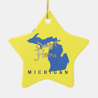 Sweet Home Michigan Christmas Ornament