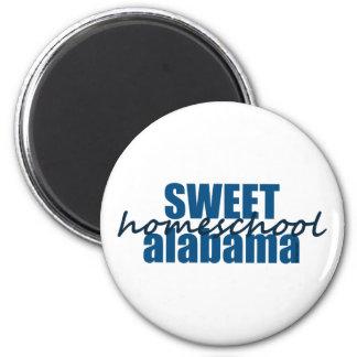 Sweet Homeschool Alabama 6 Cm Round Magnet