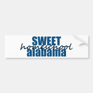 Sweet Homeschool Alabama Bumper Sticker