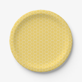 Sweet Honeycomb Pattern Paper Plates