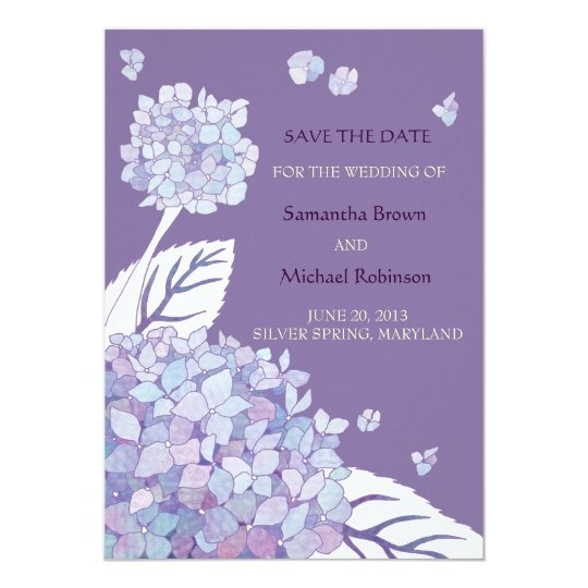 Sweet Hydrangeas Wedding Save the Date Invitations