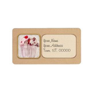 Sweet - Ice Cream - Ice cream sundae Address Label