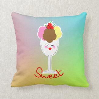 Sweet Ice Cream Sundae Throw Cushions