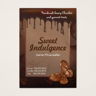 Sweet Indulgence Business Card for Chocolatiers