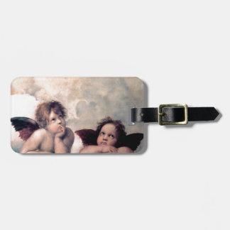 Sweet Italian Angels Renaissance Masterpiece Luggage Tag